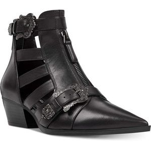 NEW Nine West Black Carrillo Cut-out Buckle Bootie